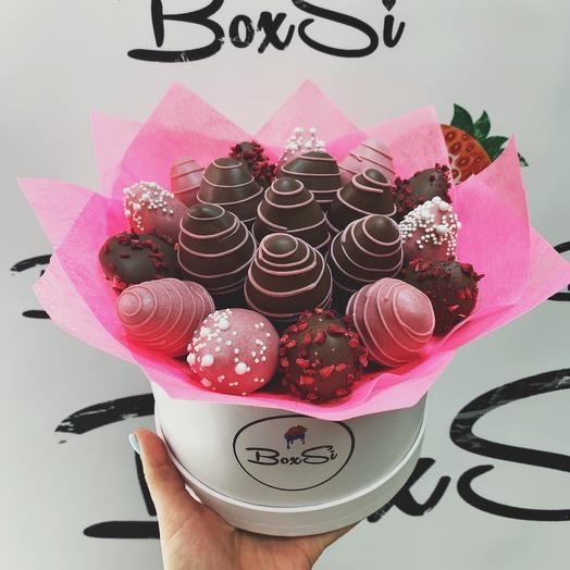 Клубничный букет S: букеты цветов на заказ Flowwow