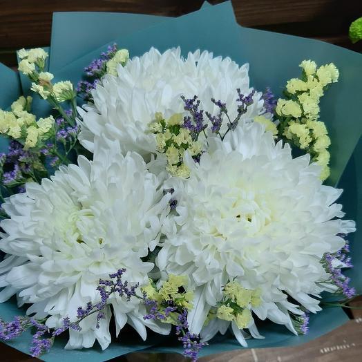 Огромные шапки хризантем: букеты цветов на заказ Flowwow