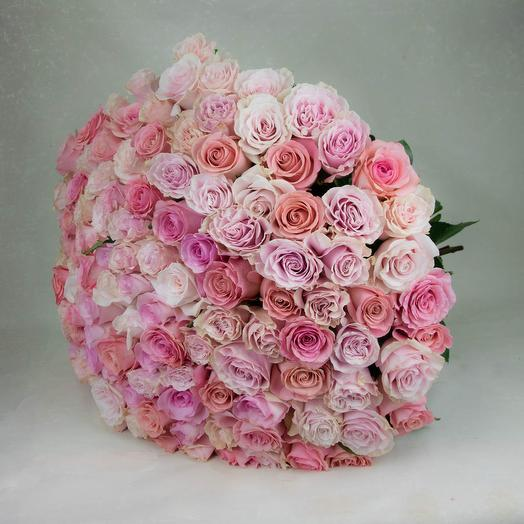 121 розовая роза