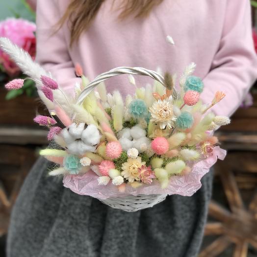 Корзина сухоцветов: букеты цветов на заказ Flowwow