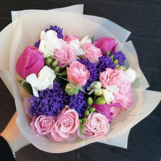 "Яркий ""Привет"": букеты цветов на заказ Flowwow"