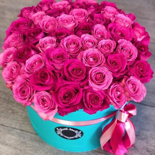 Букет из 51 розовой одноголовой розы