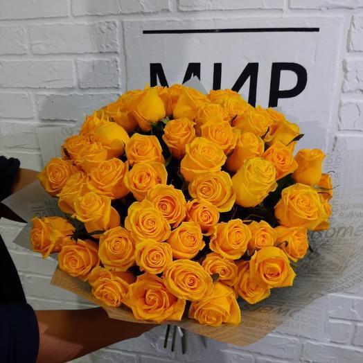 Букет из 19 Желтых Роз: букеты цветов на заказ Flowwow