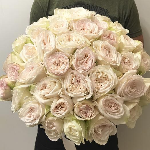 "Букет пионовидных роз ""White O hara"""
