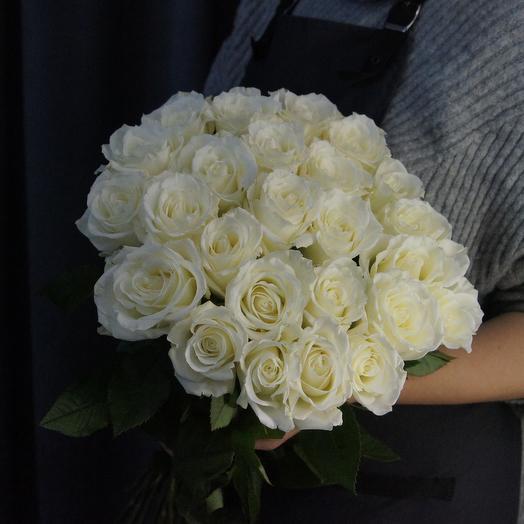 Букет из 25 роз сорта Тибет