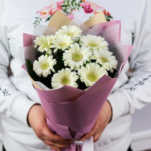 Букет из 9 белых гермини. N766: букеты цветов на заказ Flowwow
