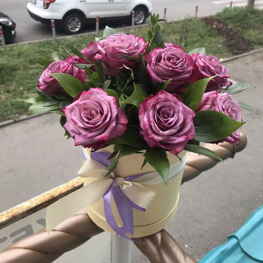 """Композиция """"Белла"""" сиреневые розы"""