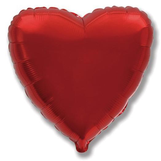 Воздушный шар Сердце красное