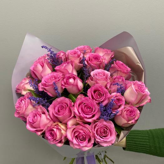 25 розовый роз