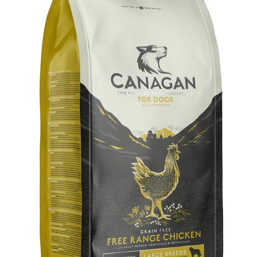 CANAGAN Grain Free, Free-Run Chicken беззерновой сухой корм для собак крупных пород всех возрастов с курицей 2 кг