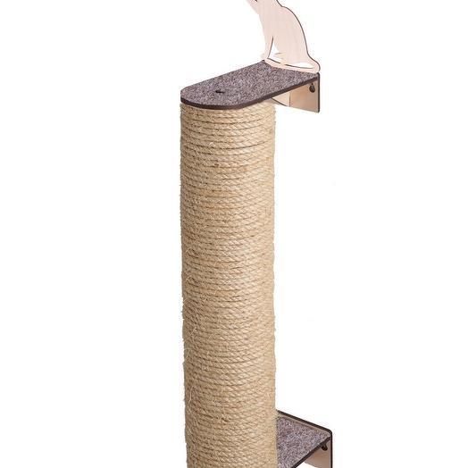 Настенная когтеточка Хвостович 110, цвет: бежевый
