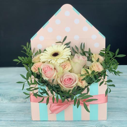 Цветы в коробке- конверте