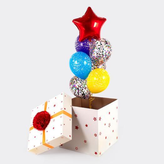 """Коробка сюрприз """"С Днем рождения!"""""""