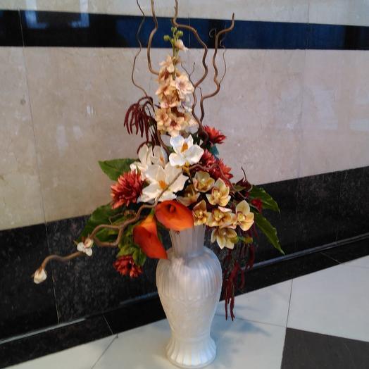 Орхидея и калла