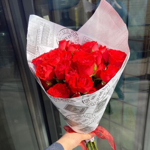 Букет из кустовых кенийских роз