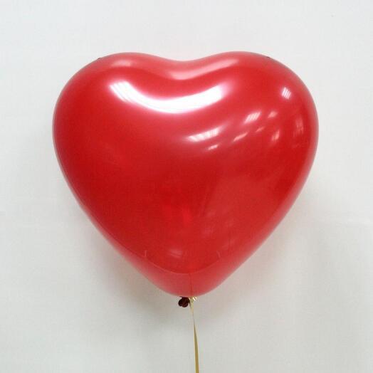 Шарик сердце с гелием