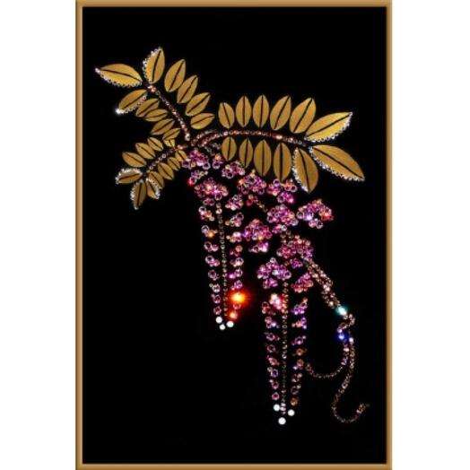 "Картина с кристаллами Swarovski ""Флер де роз"""