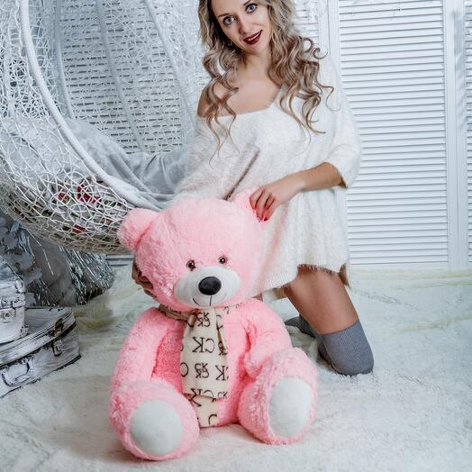 Мишка 90 см «Маучь» розовый