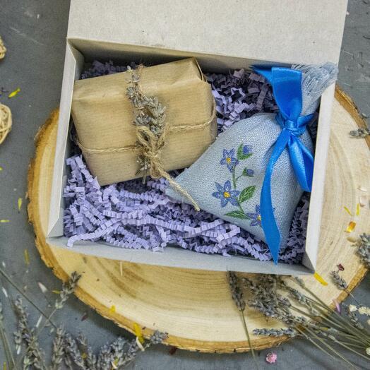 Подарочный набор 4 мыльце и лавандовое саше