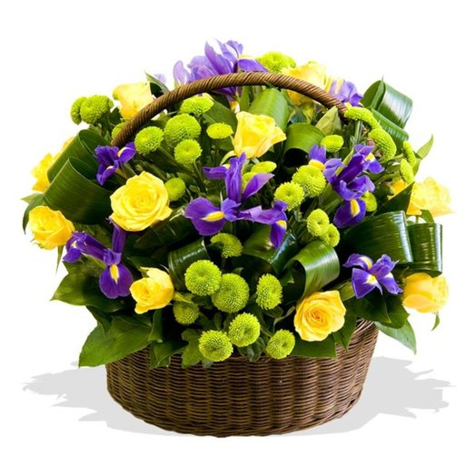 Корзина цветов Фисташка: букеты цветов на заказ Flowwow