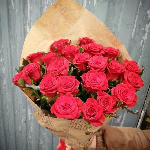 21 красная роза