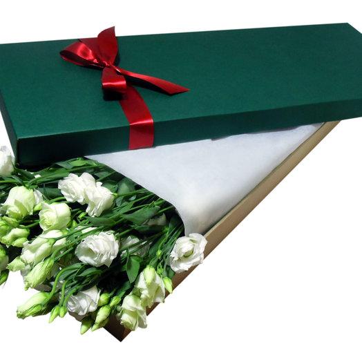 Лизиантусы в Зеленой Коробке: букеты цветов на заказ Flowwow