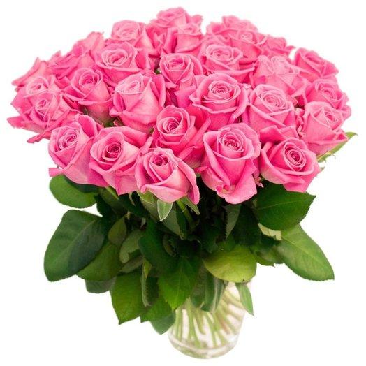 Букет из 35 розовых роз: букеты цветов на заказ Flowwow