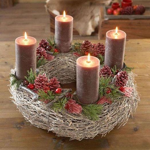 Рождественская композиция «Прованс»: букеты цветов на заказ Flowwow