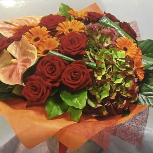 Пламенное солнышко: букеты цветов на заказ Flowwow