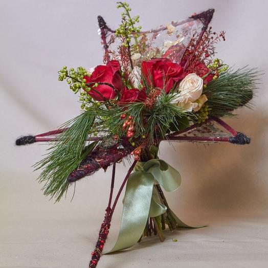 Букет на дизайн каркасе из коллекции TsoyTsoy весна2019: букеты цветов на заказ Flowwow