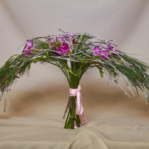 """Букет на дизайн каркасе из коллекции TsoyTsoy """"весна2019"""": букеты цветов на заказ Flowwow"""