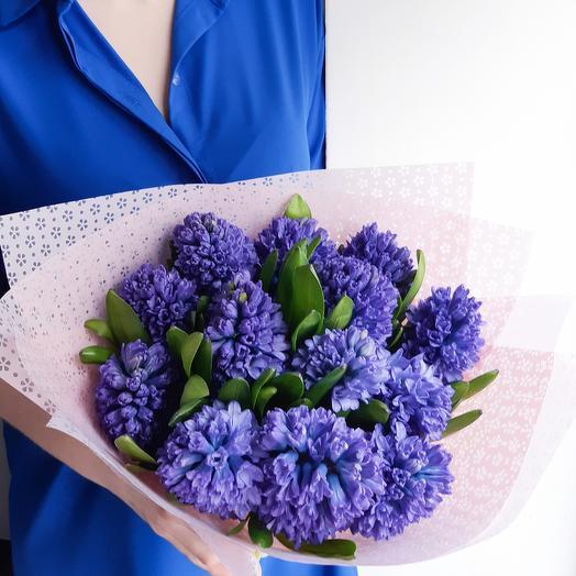 Синий гиацинт: букеты цветов на заказ Flowwow