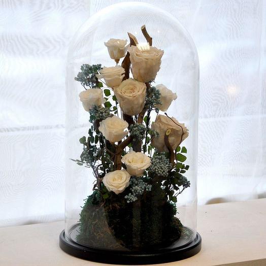"""КОМПОЗИЦИЯ """"БУКЕТ НЕВЕСТЫ"""" БЕЛЫЙ СВАДЬБА ГОДОВЩИНА: букеты цветов на заказ Flowwow"""