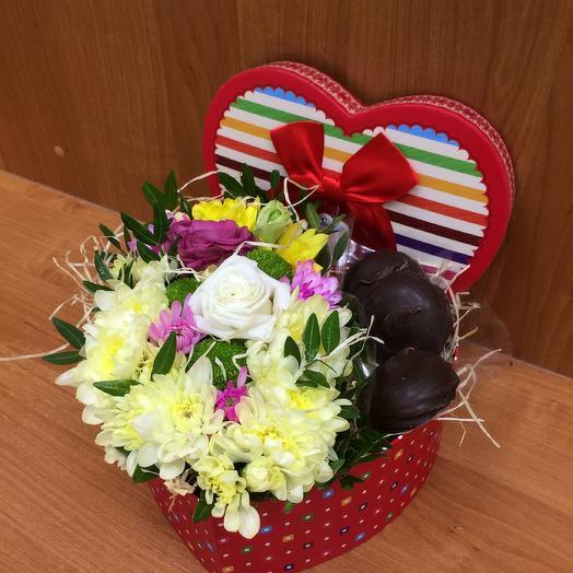 «Сладкое сердце»: букеты цветов на заказ Flowwow
