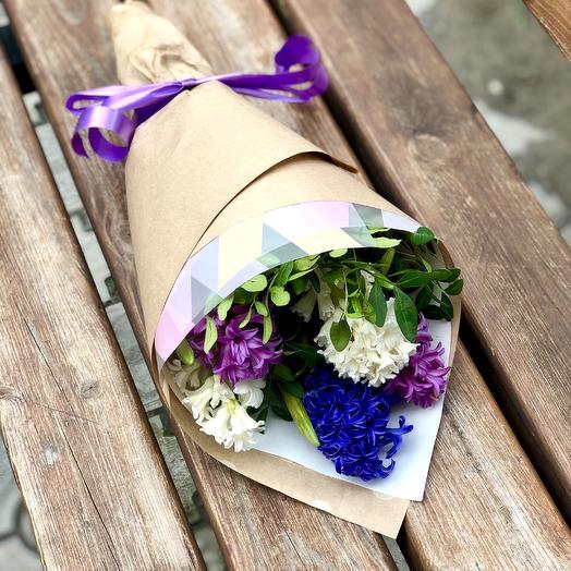 5 гиацинтов с оформлением: букеты цветов на заказ Flowwow