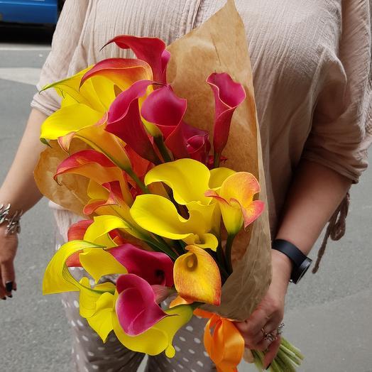 Шикарные каллы для шикарной женщины по супер цене: букеты цветов на заказ Flowwow