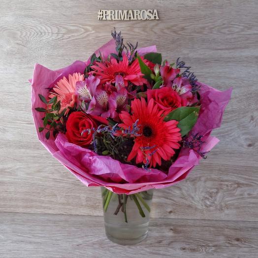 "Букет ""Розовый mix"": букеты цветов на заказ Flowwow"