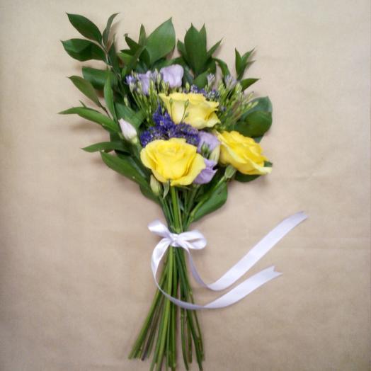 Желто-фиолетовый букет: букеты цветов на заказ Flowwow