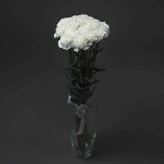 """Букет """"15 Белых Гвоздик"""": букеты цветов на заказ Flowwow"""