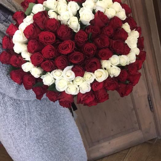 """Большой букет из роз для девушки """"КЛАССИКА"""""""