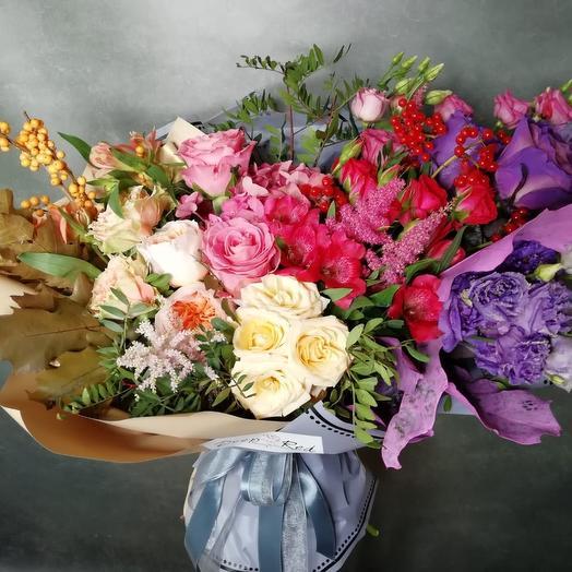 Радужная осень: букеты цветов на заказ Flowwow