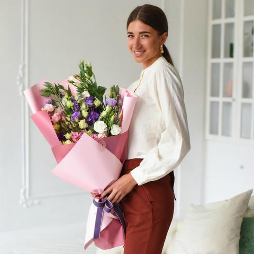 Букет из эустомы микс 2: букеты цветов на заказ Flowwow