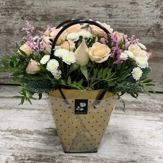 Сумочка с кустовыми розами