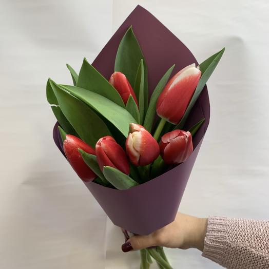 Букет «7 нежных тюльпанов»