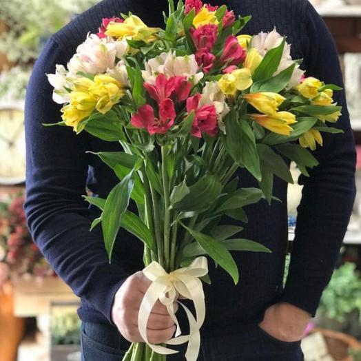 Букет альстромерий микс 21 шт: букеты цветов на заказ Flowwow