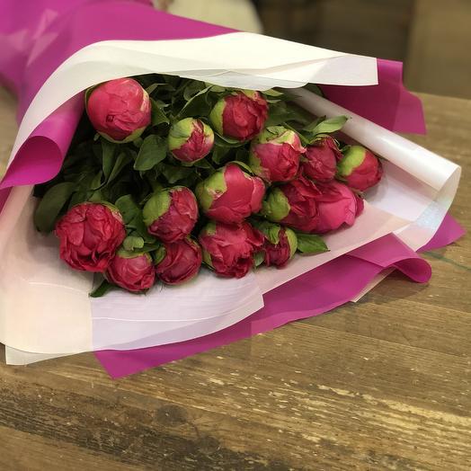 """Букет пионов """"Розовый вечер"""""""