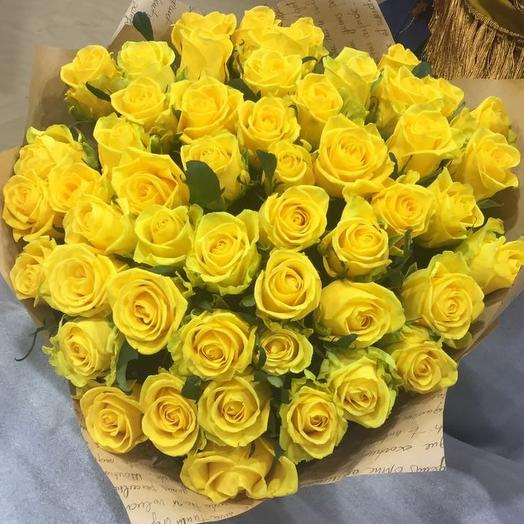 Жёлтые розы: букеты цветов на заказ Flowwow