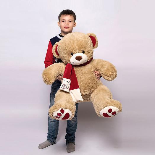 Большой Медведь Кельвин 110 см (кофейный)