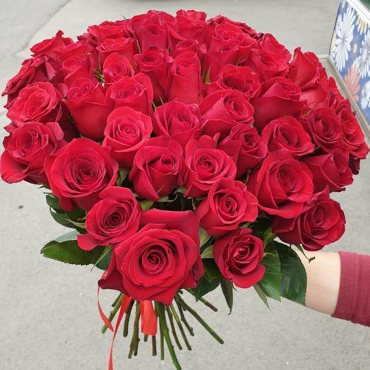 """Отличная цена! 51 красная роза """"Эксплорер"""""""