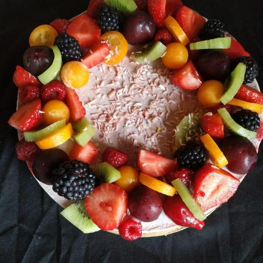 Малиновый торт rawcake
